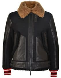 Cruise Hilfiger Edition Leather Panel Shearling Jacket