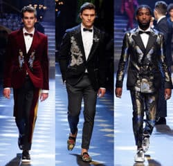 Dolce and Gabanna Catwalk AW17 Presley Gerber Oliver Cheshire Tinie Tempah