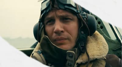 Dunkirk Tom Hardy as Pilot Farrier in the cockpit
