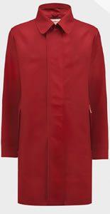 Hunter Original Mens Rubberised Raincoat Military RED