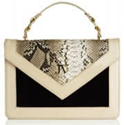JOSH V Bag Anabella in suede patent leather with snakeskin ptint