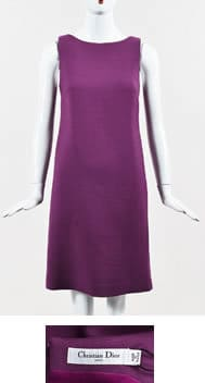 LGS Christian Dior Purple Dress and Label