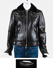 Dolce and Gabbana Glossy Shearling Jacket