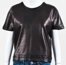 Luxury Garage Sale Rag & Bone JEAN brown leather top