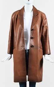 Prada Leather coat - vintage