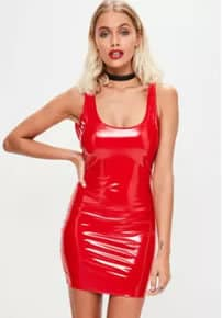 Red Plastic Dress