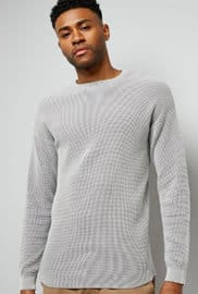 New Look Grey Textured Jumper