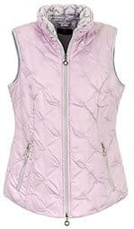Peter Hahn Pale Pink quilted waistcoat Gilet