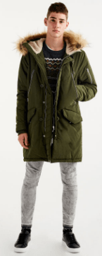 Pull and Bear faded Kaki Coat