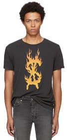 Ksubi x Travis Scott Flaming Dollar T Shirt