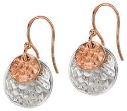 Nomad Earrings in Sterling Silver and Rose Gold Vermeil