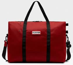 Hunter Original Nylon Military Red Weekend Bag