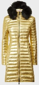 Hunter refined down coat in gold