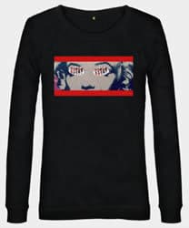 Marilyn inspired logo long sleeved sweatshirt