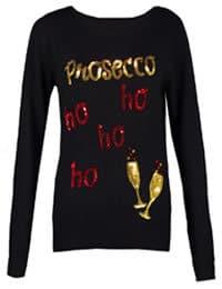 boohoo Charlotte Prosecco Ho Ho Ho Christmas Jumper