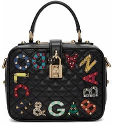 Dolce and Gabbana black quilted box bag Women's Accessories