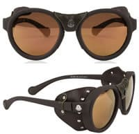 Moncler Leather Goggle Sunglasses