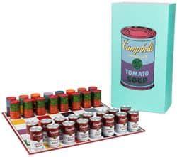 Andy Warhol Campbells Soup Chess Set