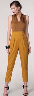 Mustard Jumpsuit SS18 Women's Clothing Fashion