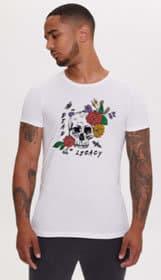 DL Floral Skull T Shirt