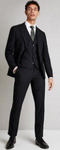 Moss Bros DKNY Black Slim Fit Suit
