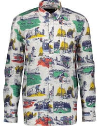 Love Moschino Forest Patterned Shirt