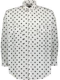 Love Moschino White Graphic Printed Shirt