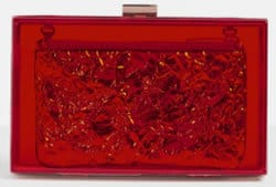 Red holographic Box Clutch Bag