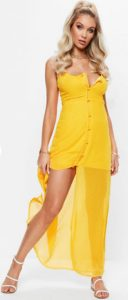 Mustard Button Down Maxi Dress