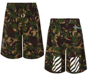 OFF WHITE Diagonal Camouflage Shorts