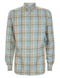 Blue Washed Check Shirt