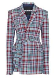 Women's Cothing Tailored Tartan Jacket