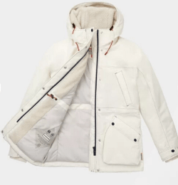 Womens White Insulated Field Jacket