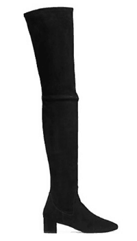Stretch Suede Over Knee Boots